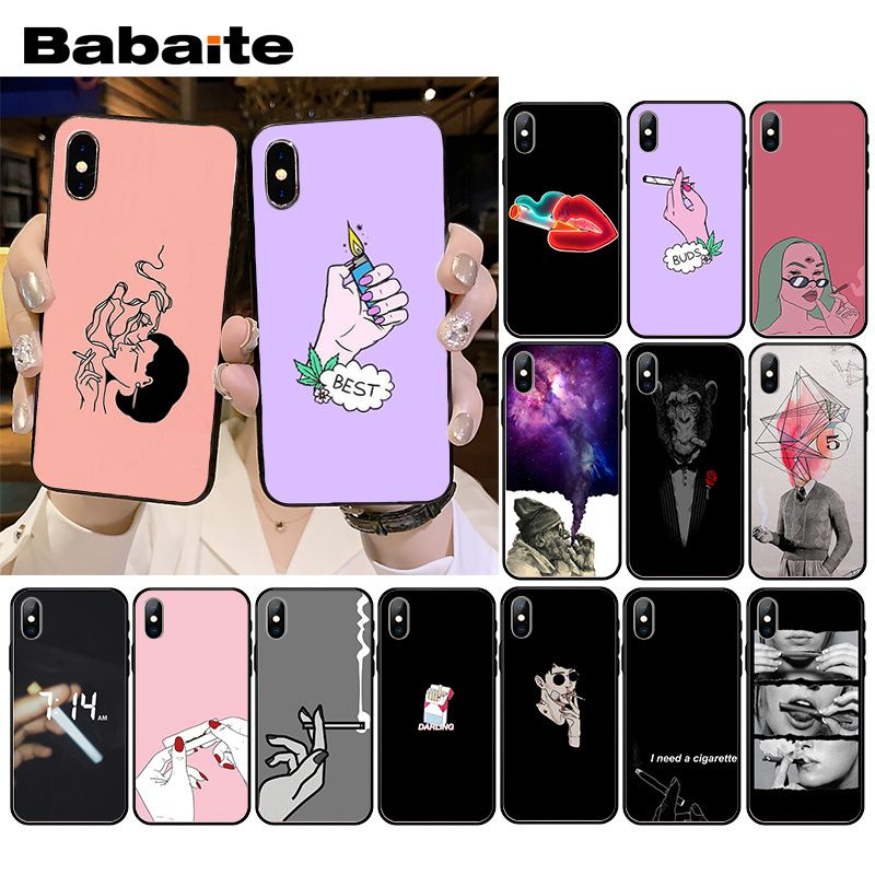 Weed Cigarette Smoking Phone Case for iPhone XR 11 Pro MaxXS MAX  8 7 6 6S Plus X 5 5S SE