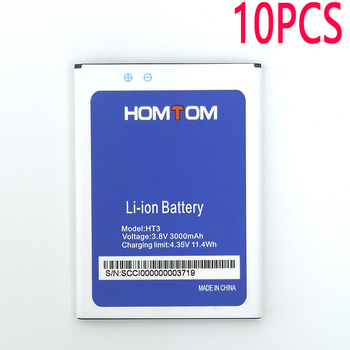 10PCS New In Stock High Quality Battery For HOMTOM HT3/ht3 PRO Moble Phone+Tracking Number image