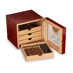 Galiner espagne cèdre bois cave à cigares boîte haute brillance 3/4 couche tenir 75 Ct cave à cigares boîte maison verre Table cave De Puros