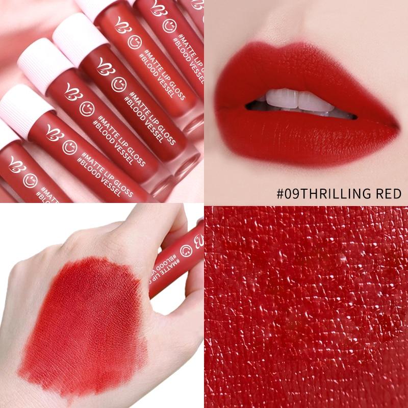 Hot 6 Colors Gloss Lip Glaze Sample Matte Long Lasting Non-stick Cup Liquid Lipstick Lipgloss Sexy Waterproof Cosmetic Beauty