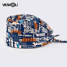 wholesale Fashion letter printing hat adjustable Scrub hat beauty salon laboratory pet shop scrub cap nursing hat scrubs uniform