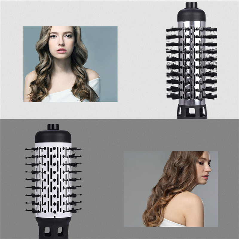 Image 2 - 2 In 1 Rotating Brush Hot Air Styler Comb Curling Iron Roll Styling Brush Hair Dryer Blow With Nozzles 2 Speed & 3 Heat Setting-in Hair Dryers from Home Appliances