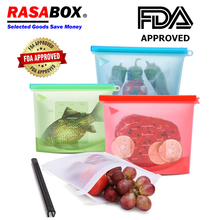 RASABOX - Food Storage & Organization Sets, Reusable Silicone Bags, Freezer for Snack Lunch Sandwich, Keep Fresh