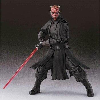 15cm Shf Star Wars Darth Maul Lightsaber Black Series Action Figures Super Movable Joints Face Change Pvc Models Gifts Figures