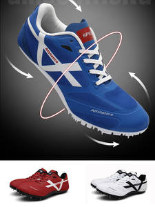 Sneakers Field-Shoes Spikes Track Athletics-Trainer Running Women Sport Man Breathable