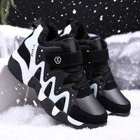 ULKNN 소년 면화 신발 2020 새로운 겨울 플러스 벨벳 두꺼운 면화 신발 어린이 운동화 남성 어린이 스포츠 신발 소년