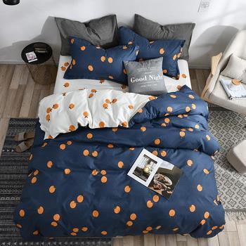 56 3/4 sztuk 5 rozmiar Home mody pościel zestaw owoce persimmon plaid pozostawia kołdra pokrywa prześcieradło poszewka na poduszkę miękkie wygodne