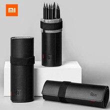Xiaomi fizz caneta titular 8 hole caneta compartimento simples escritório caneta cortina de fibra de couro reforçado macio caneta caso escritório escola