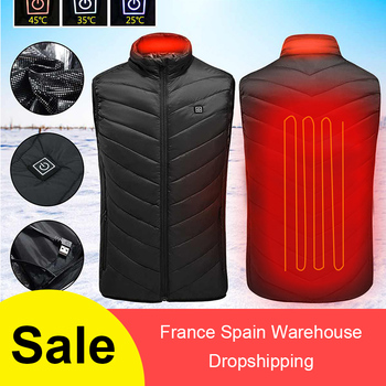 Heating Vest Washable Usb Charging Heating Warm Vest Control Temperature Outdoor Camping Hiking Golf (without battery) 2