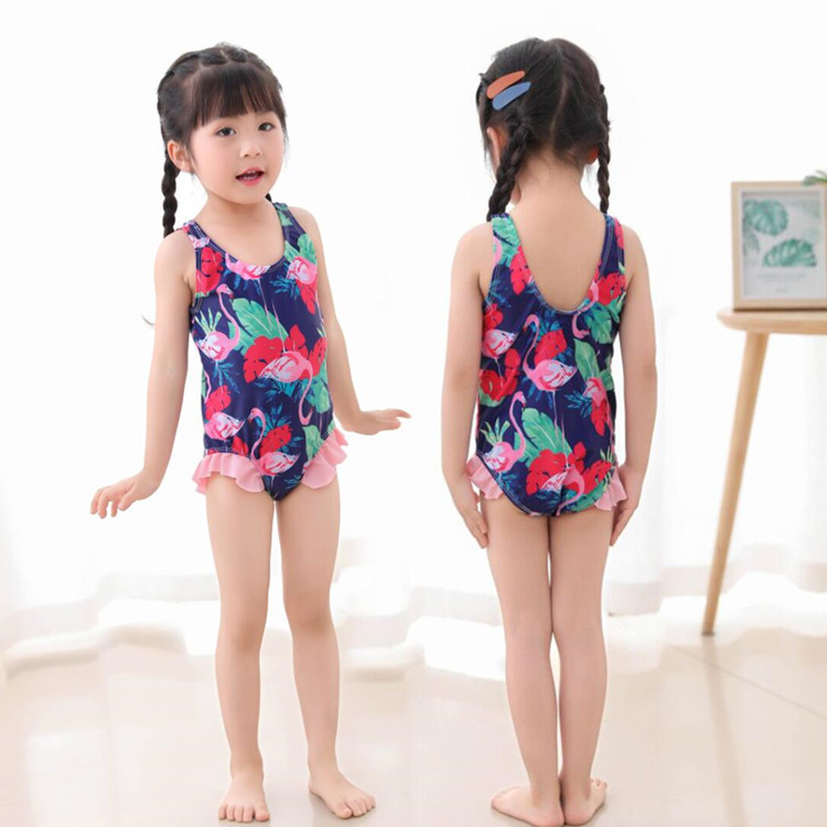 INS Wind KID'S Swimwear Women's One-piece Swimwear Princess 2-6-Year-Old GIRL'S Girls Swimwear Infants Baby Bathing Suit