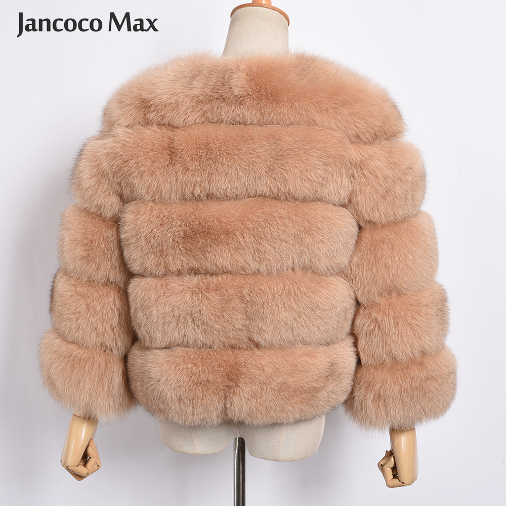Image 4 - Women's Real Fox Fur Coat Winter Fashion Fur Jackets Thick Warm Fluffy High Quality  Outerwear Female Genuine Fur S1796-in Real Fur from Women's Clothing