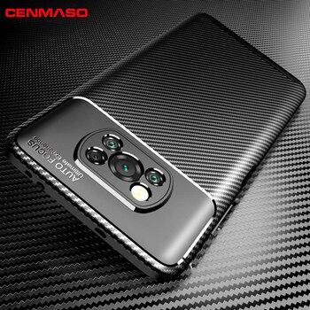 For POCO X3 M3 Case For Xiaomi POCO X3 NfC Poco X2 F2 Pro mi 10T Pro Case For Redmi Note 9S 9 Pro Carbon Fiber Texture Cover