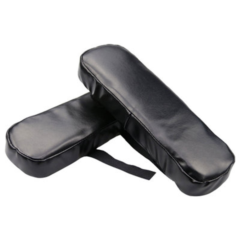 Wheel Chair Armrest Pad Cover Elbow Pain Relief Cushion Memory Foam PU Leather Office JS23