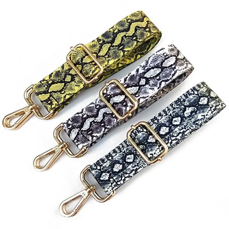 1PC Snake Skin Nylon Replacement Adjustable Shoulder Bag Wide Strap Belt DIY Lady Handbag Handle Belt Bag Accessories
