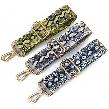 1PC Snake Skin Nylon Replacement Adjustable Shoulder Bag Wide Strap Belt DIY Lady Handbag Handle Belt Bag Accessories - DISCOUNT ITEM  41% OFF All Category