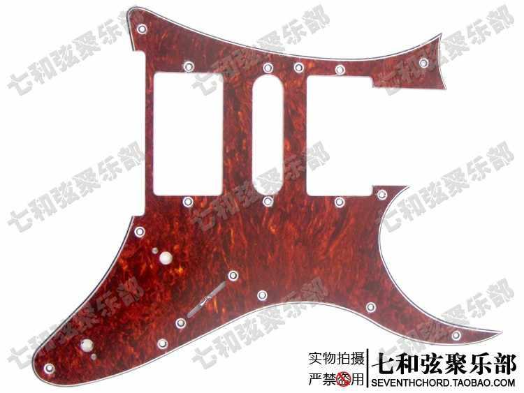10 отверстий красная жемчужная гитара Защита от царапин Пластина для электрогитары