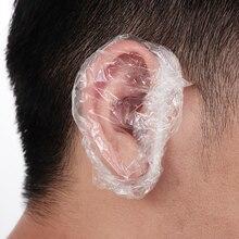 Earmuffs Cover Caps Hair-Dyeing-Tools Ear-Protector Salon Bath Shower Disposable Plastic