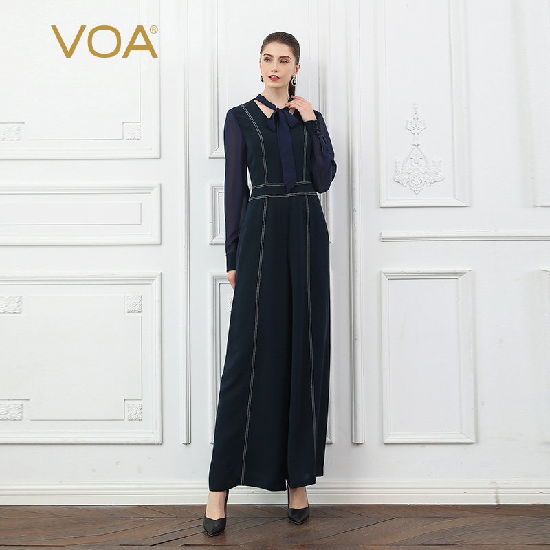 VOA Ribbon Bow Jumpsuits K781