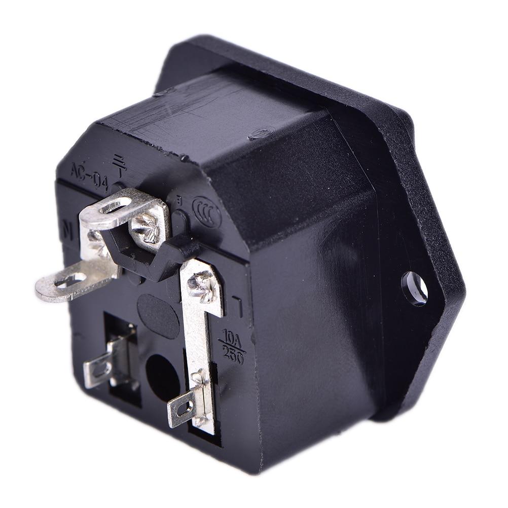 10A 250V AC AC-03 Power Socket With Safety Fuse Holder Socket Connectors
