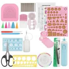 24 pc/set diy quilling kit de ferramentas de papel conjuntos arte artesanato decoração hamdmade artesanato ferramenta de decoração de papel