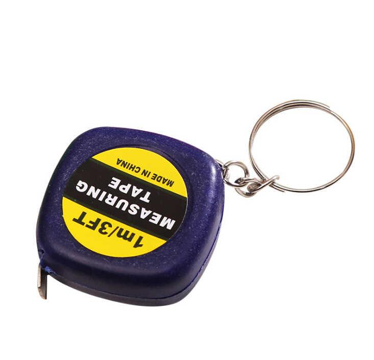 1 متر/3ft سهلة قابل للسحب حاكم شريط القياس صغيرة المحمولة سحب حاكم المفاتيح لون عشوائي يسهل حملها