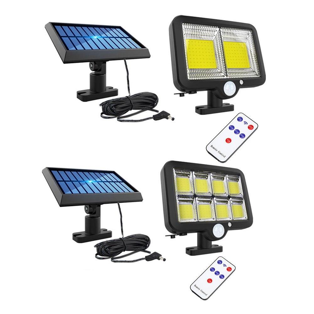 160LED applique murale solaire en plein air capteur de mouvement humain étanche télécommande 3 Modes lampe pour jardin rue éclairage de sécurité