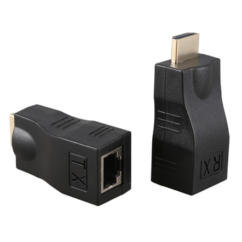 hdmi rj45 4K 3D HDMI 1.4 30M Extender to RJ45 Over Cat 5e/6 Network LAN Ethernet Adapter hdmi extender transmitter tx rx adapter 30m hdmi network extender rj45 cat5e cat6 ethernet lan without hdcp
