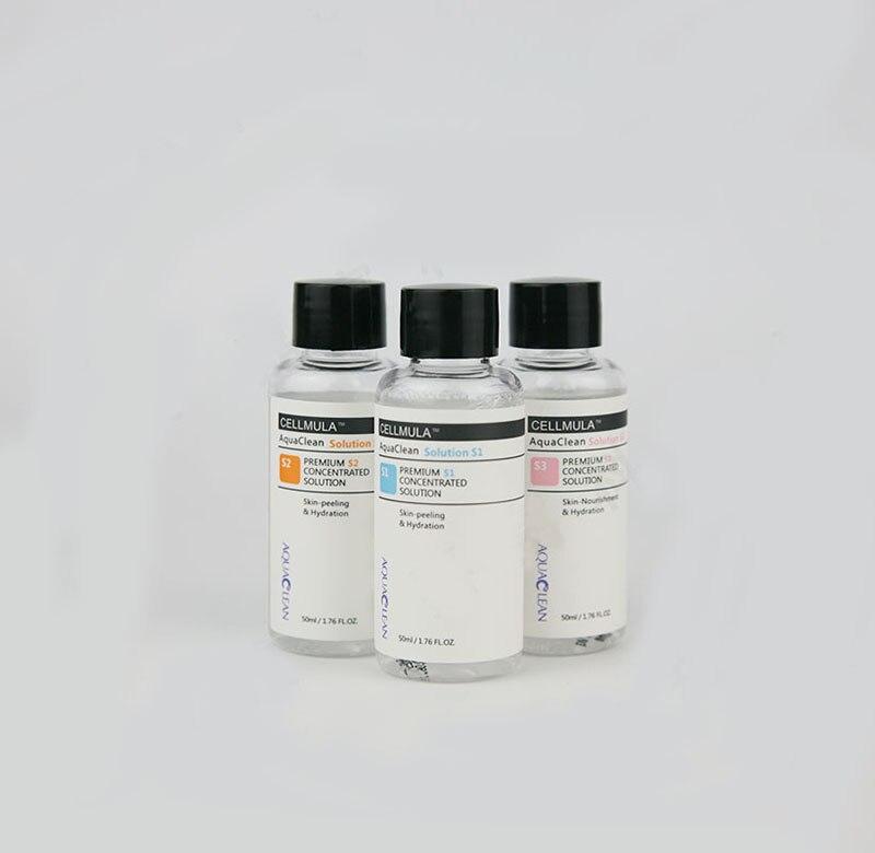 50ml Per Bottle Aqua Clean Solution /three Bottles Aqua Peel Concentrated Solution  Aqua Hydra Facial Serum  For Normal Skin