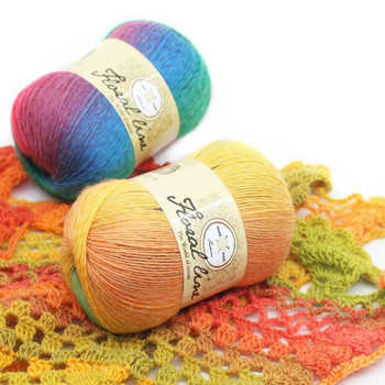 Wholesale Yarn 18pcs X 100g Rainbow Line Fancy Melange Yarn 100% Cashmere Wool Yarn knitting 20 Colors High Quality - DISCOUNT ITEM  25% OFF All Category