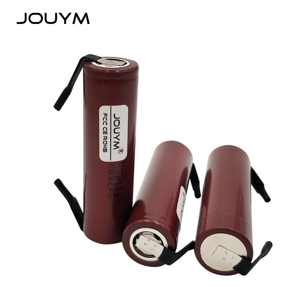 JOUYM DIY HG2 18650 Battery 3000mAh 18650HG2 3.6V 30A High Power Discharge Li-ion Rechargeable Battery for Electric Tool