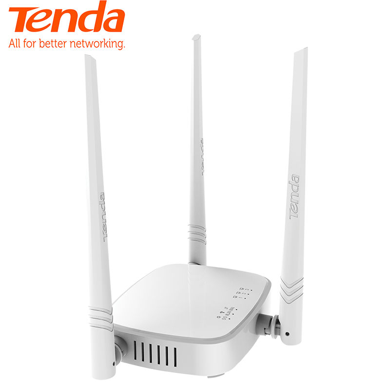 Tenda N318 300Mbps Wireless WiFi Router Wi-Fi Repeater Booster,Multi Language Firmware, 802.11b/g/n,1WAN+3LAN Ports, Easy Setup