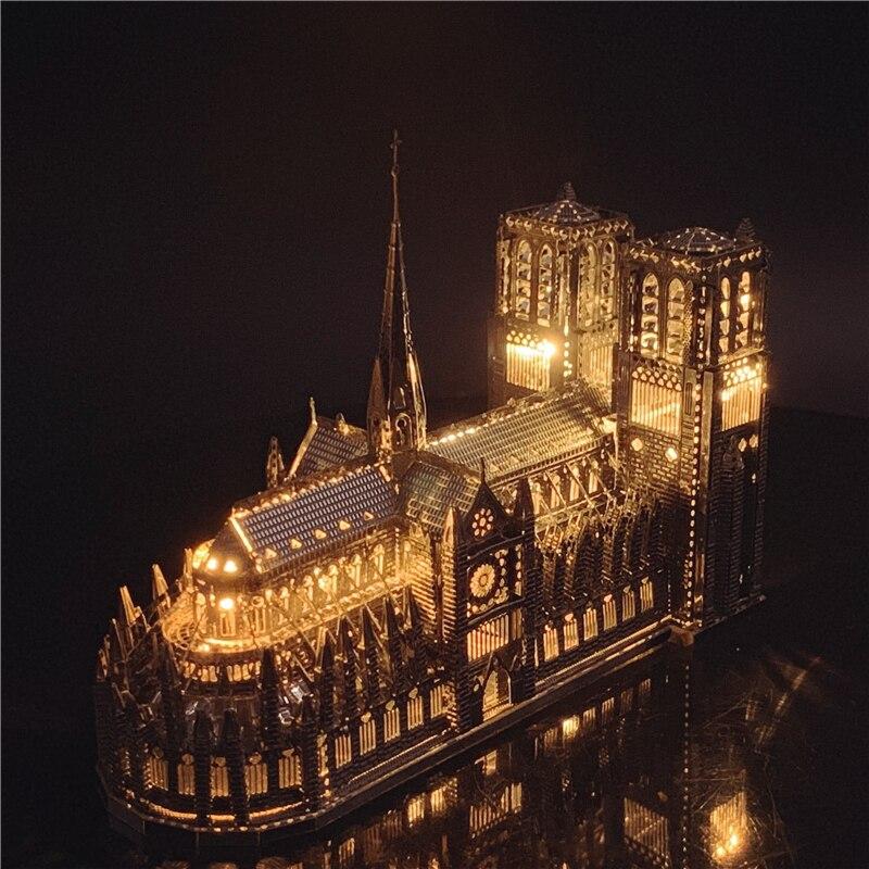 IRON STAR 3D Metal Puzzle Notre-Dame De Paris Model Assembly Model DIY 3D Laser Cut Model Puzzle Toys For Adult