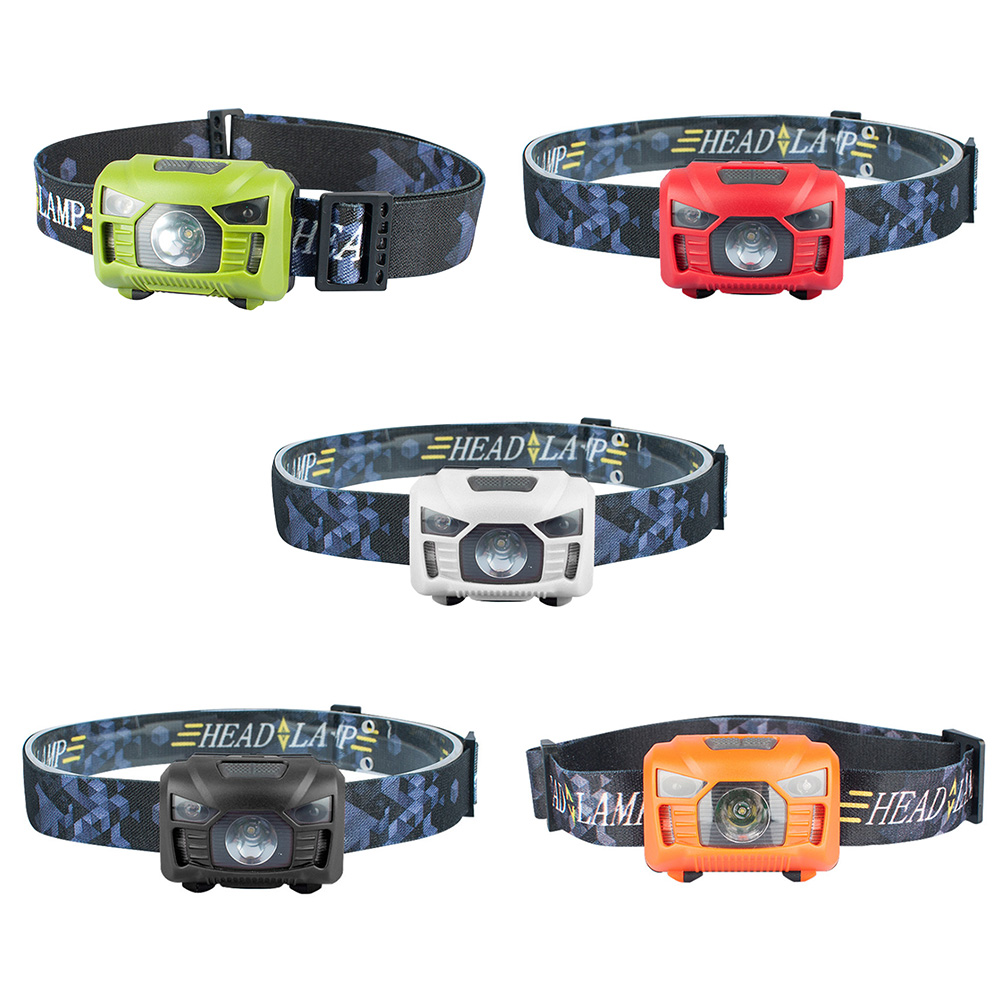 LED Headlight USB Rechargeable 3 Modes Wave Sensor Waterproof Portable Headlamp Front Lamp Flashlight Torch For Hiking Fishing