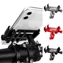 Alloy Bicycle Phone Holder Universal Bike Motorcycle Handlebar Clip Stand Mount Cell Phone Holder Bracket for iPhone 11 Pro Max(China)