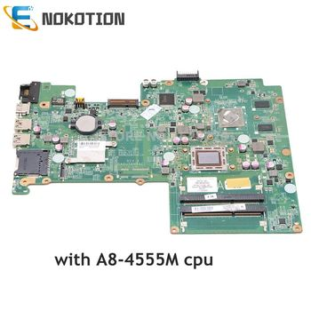 NOKOTION For HP Pavilion Sleekbook 15 Laptop Motherboard 709176-501 709176-001 DA0U56MB6E0 A8-4555M CPU A70M MARS 1GB