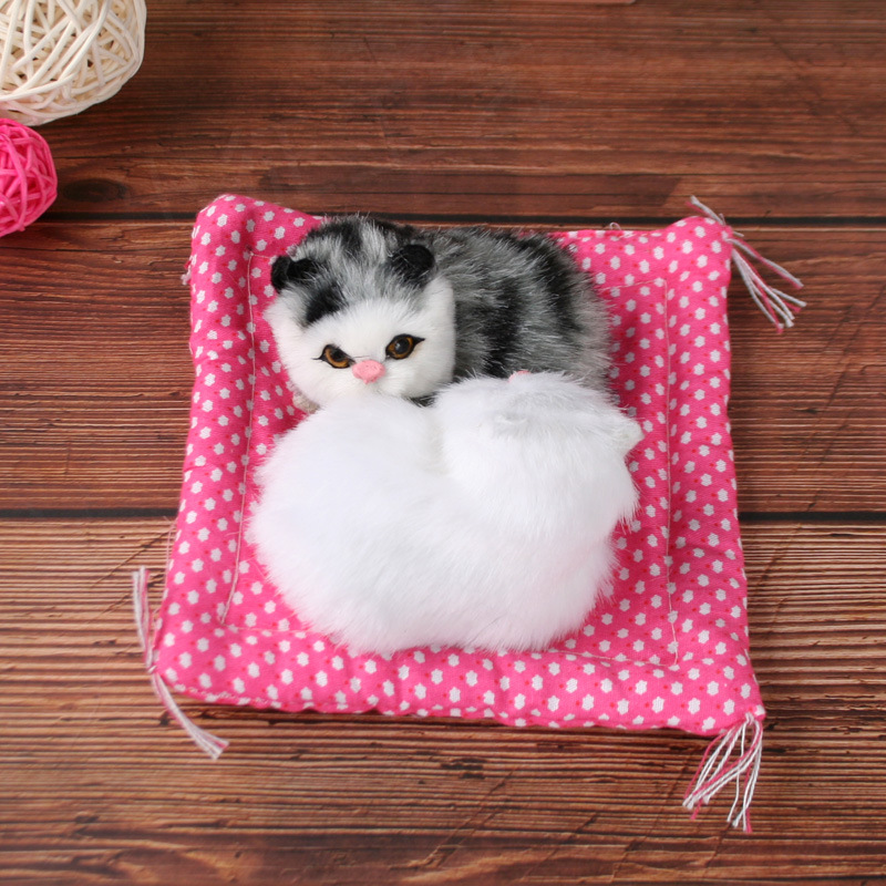 Simulation Cloth Cushion Cat Two Color Two Car Accessories Home Furnishings Creative Toys