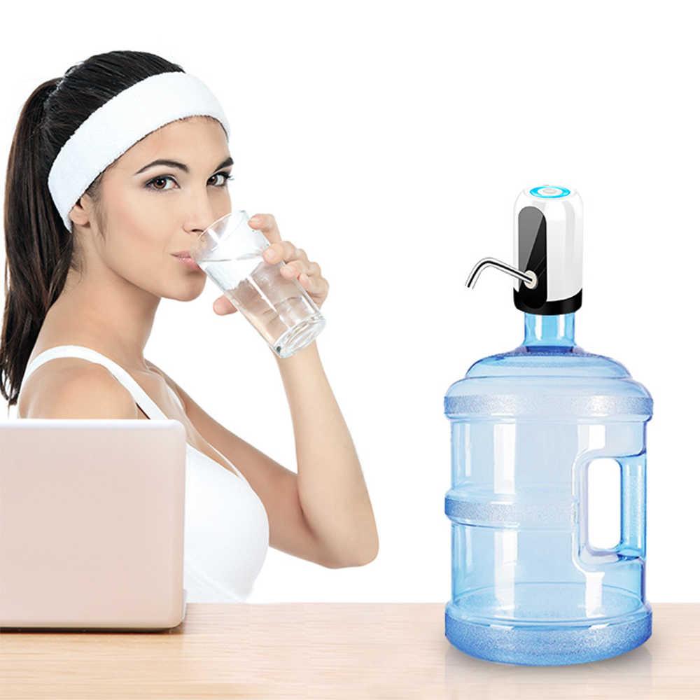 التلقائي موزع مياه المياه المعبأة في زجاجات موزع المياه الكهربائية ضغط المياه موزع مياه USB المنزلية LED اللاسلكية