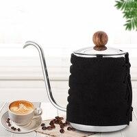 500ML Edelstahl Kaffee Tropf Wasserkocher Keine Griff Anti Hot Hänge Ohr Schwanenhals Auslauf Kaffee Tee Topf für barista Werkzeuge|Kaffeepott|   -