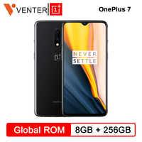 Em Estoque Global Rom Oneplus 7 8 GB de RAM 256 GB ROM Smartphone Snapdragon 855 6.41 Polegada AMOLED Tela de Desbloqueio câmera OIS 48MP UFS 3.0