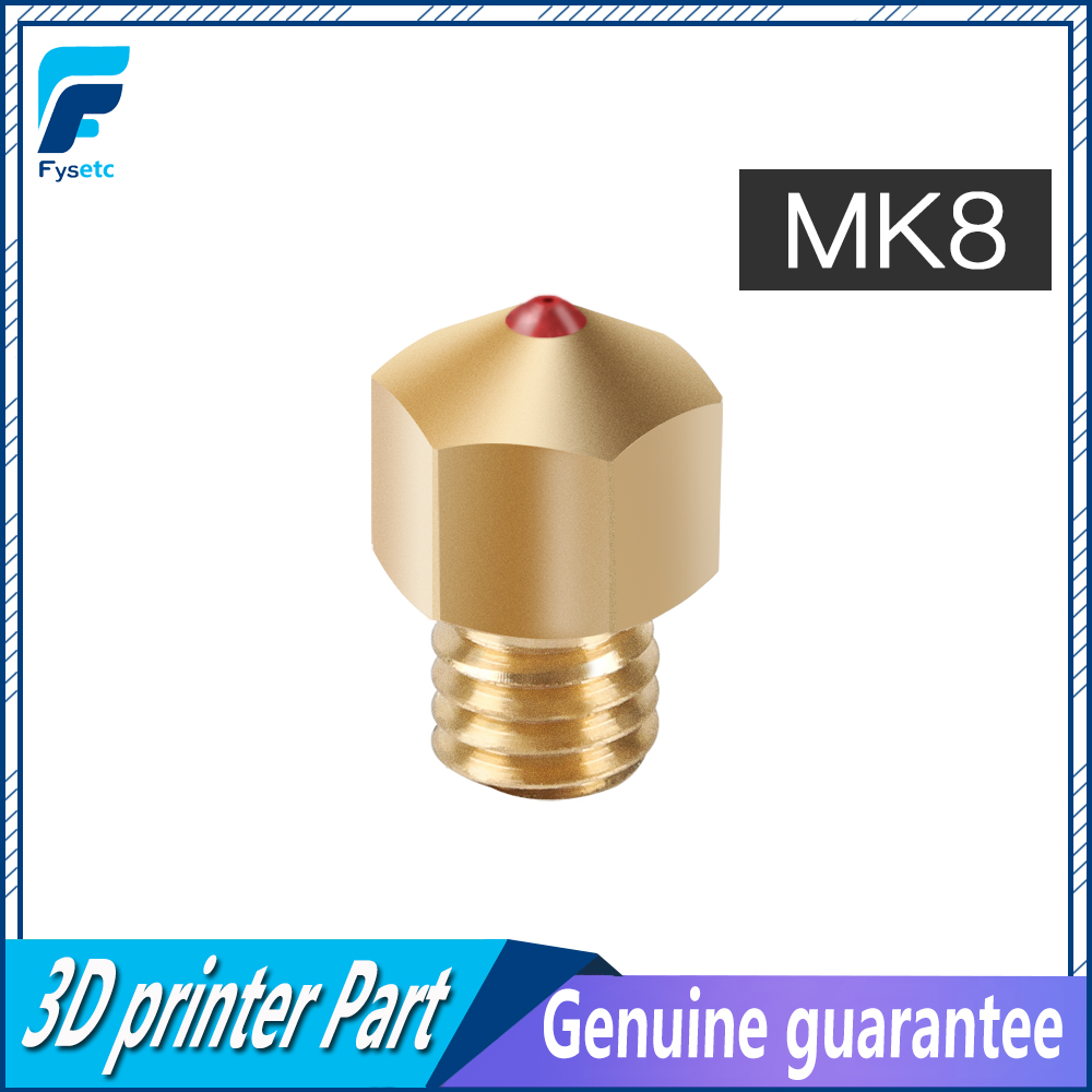 MK8 Ruby Nozzle 1 75mm Nozzles 0 4mm High Temperature Ruby MK8 Nozzle For PETG ABS