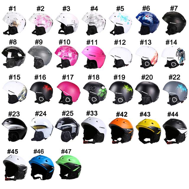 MOON Ski Helmet Ultralight Extreme Sports Snow Skiing Snowboard Skateboard Helmet Size 52-64 CM Material PC+EPS