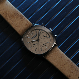 Image 5 - גברים רצועת עור שוויצרי קוורץ שעון גברים של לוח שנה זוהר עמיד למים שעוני יד איש גדול סגנון ספורט יד שעונים מתנת שעון