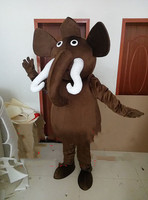 Brown Elephant Mascot Costume Suits Cosplay Party Game Animal Fancy Dress Outfits Advertising Promotion Carnival Halloween Adult