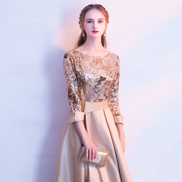 DongCMY Long Formal Sequined Prom Dresses Party New Plus Size Robe De Soiree Embroidered Gowns 5