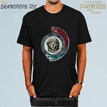 В винтажном стиле, в стиле «хип-хоп» России СССР Гагарин футболка для мужчин Популярные Модные Советский герой космонавт 1961 футболка Ретро-...