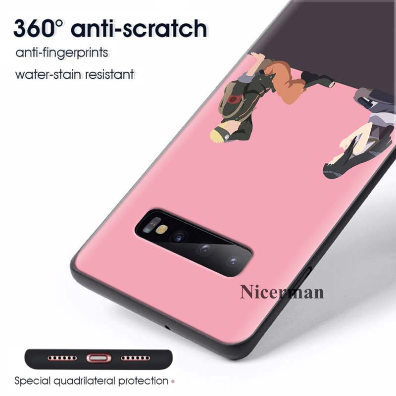 Image 4 - Black Silicone Cases Cover Coque for Samsung Galaxy S8 S9 S10 S10e 5G Note 8 9 10 5G Plus S7 S7 Edge S8+ S9+ S10+ Anime Naruto-in Fitted Cases from Cellphones & Telecommunications