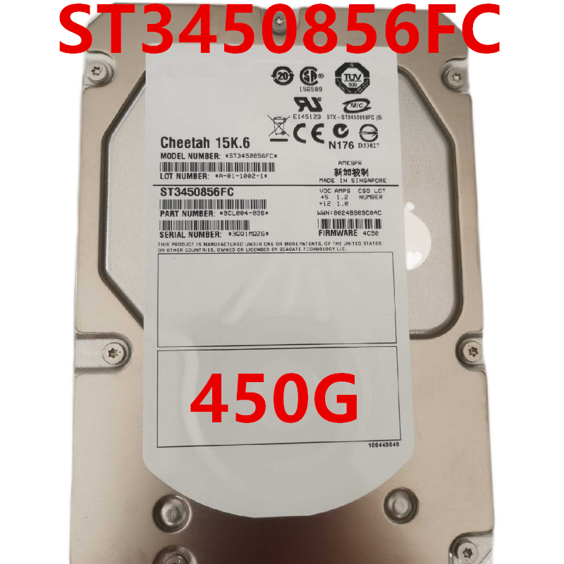 """New HDD For Seagate Brand 450GB 3.5"""" FC 4 Gb/s 16MB 15000RPM For Internal HDD For Enterprise Class HDD For ST3450856FC 1"""