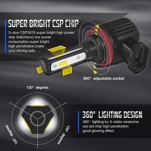 Image 2 - Mini H11 LED With 3570 CSP Car Lamps Anti Fog Lamp Bulb H4 H8 H7 Fog Light HB3 9005 HB4 9006 6000K Luces Led Para Auto 12V DC