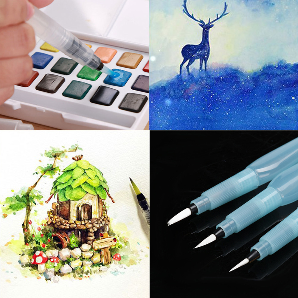 1 Pcs Refillable Pilot Water Brush Ink Pen For Painting Watercolor Drawing  Calligraphy Illustration Pen Pencil