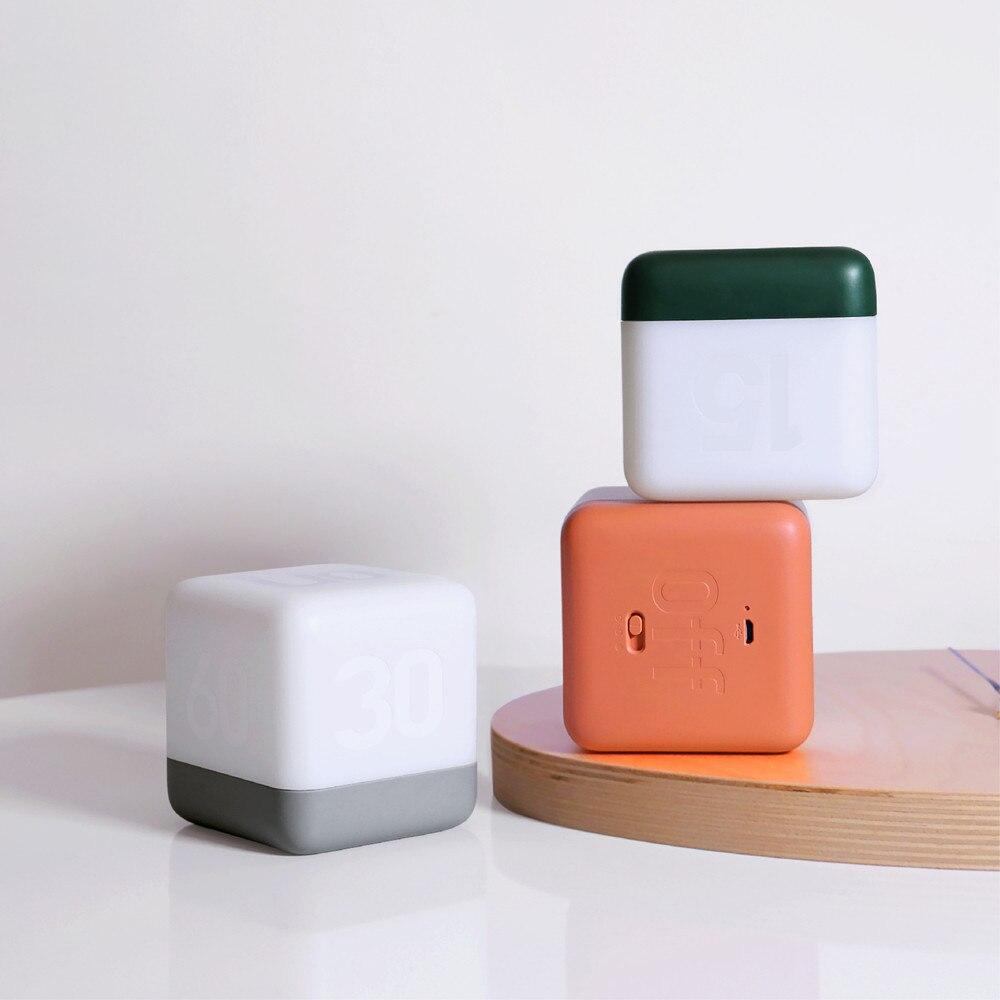 USB Charging Creative Cube With Sleep Light Flip Timer Night Light LED Energy Saving Table Lamp